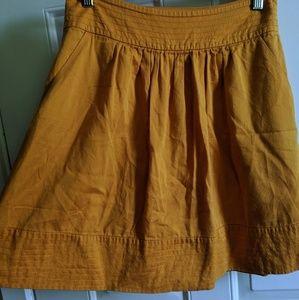 Anthropologie Yellow Circle Skirt